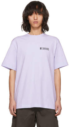 Acne Studios Purple Jaceye Meaning Print T-Shirt