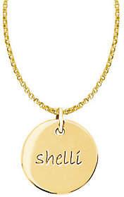 Posh Mommy 18K Gold-Plated Sterl. Medium Disc Pendant w/ Chai