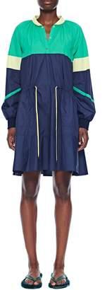 Tibi Nylon Colorblock Dress