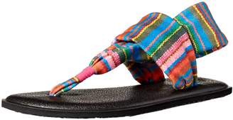 Sanuk Girls' Yoga Sling Burst Prints Flip-Flop