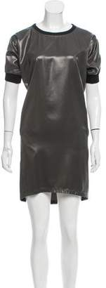 Reed Krakoff Faux Leather Mini Dress