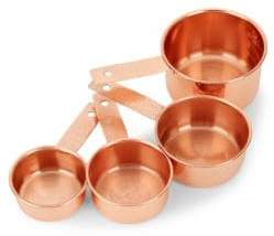Home Essentials Set of Four Stainless Steel Measuring Cups