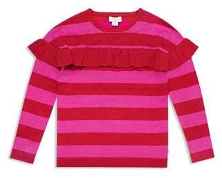 Kate Spade Girls' Ruffled Metallic-Knit Striped Sweater - Big Kid