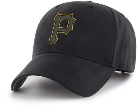 PITTSBURGH PIRATES MLB Pittsburgh Pirates Black Mass Basic Adjustable Cap/Hat by Fan Favorite
