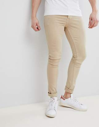 BEIGE Saints Row Super Skinny Jeans in