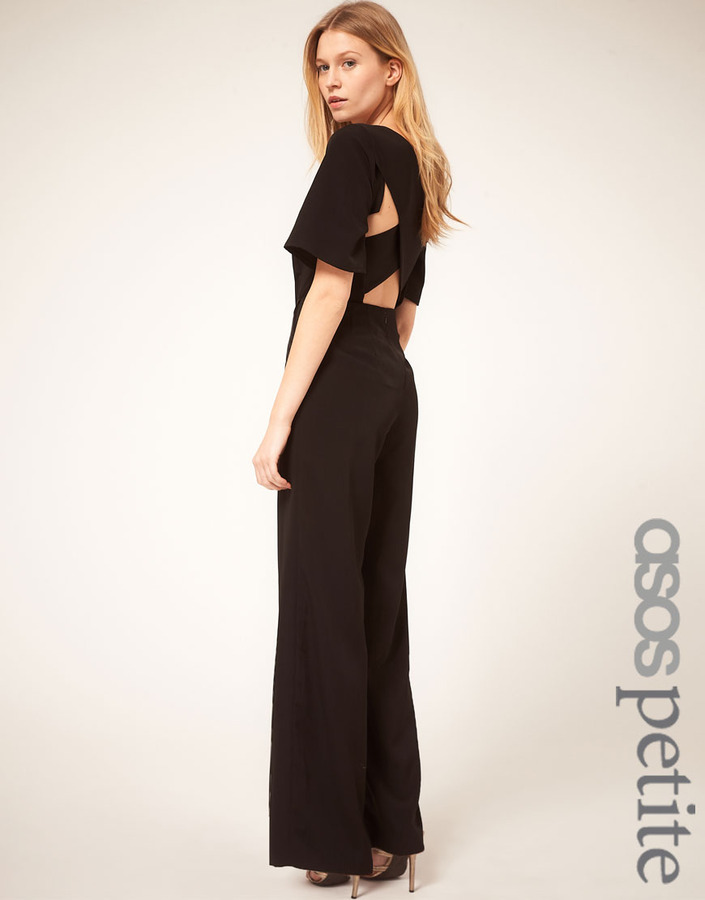 Asos Exclusive Jumpsuit With Cross Back Detail