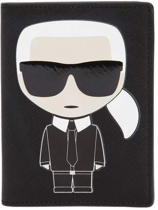 Karl Lagerfeld Paris K/ikonik Faux Leather Passport Holder