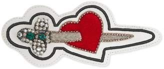 Gucci Ace pierced heart patch