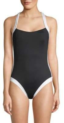 Crisscross One-Piece Swimsuit