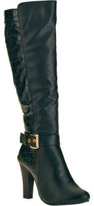 FOREVER YOUNG Forever Young Women's Crocodile Textured Buckle Tall Boot