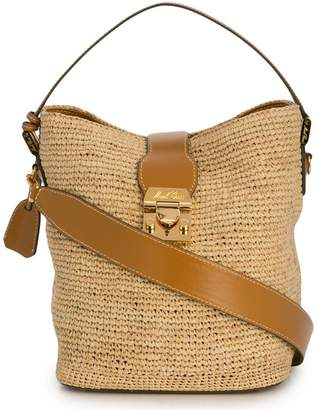 Mark Cross woven shoulder bag