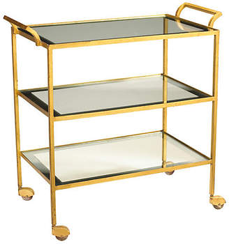 French Heritage Rhone Bar Cart - Gold