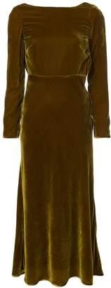 Saloni low back midi dress