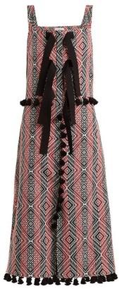 Altuzarra - Villette Diamond Jacquard Dress - Womens - Red Print