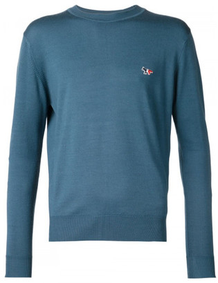 Maison Kitsuné crew neck sweater $325 thestylecure.com