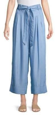 Halston H Wide-Leg Cropped Pants