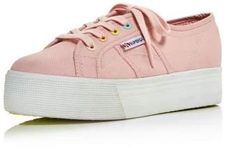 Superga Women's Coloreycotw Multicolor Eyelet Lace Up Platform Sneakers - 100% Exclusive