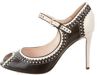 Moschino Moschino Leather Brogue Pumps