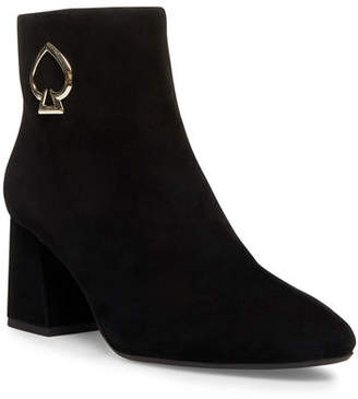 Kate Spade Alihandra Suede Zip Ankle Boots