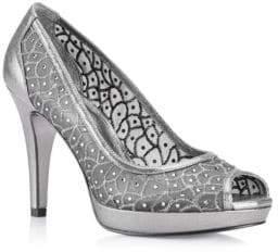 Adrianna Papell Foxy Embroidered Platform Sandals