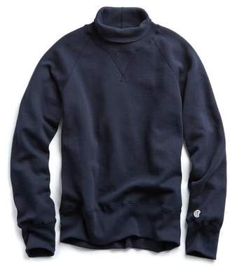 Todd Snyder + Champion Turtleneck Sweatshirt in Navy