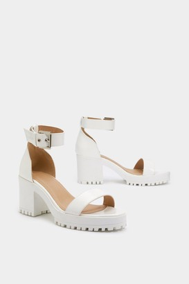 6347f67f6eaa2f Nasty Gal Cleat It Fancy Faux Leather Sandals