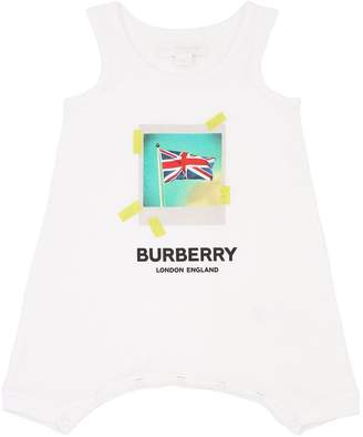 Burberry Printed Cotton Bodysuit