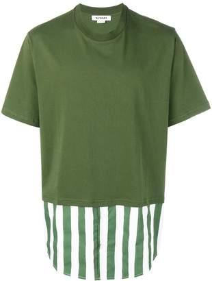 Sunnei contrast panel T-shirt