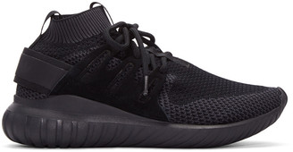 adidas Originals Black Tubular Nova Primeknit Sneakers $140 thestylecure.com