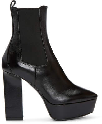 Saint Laurent Black Vika Chelsea Boots