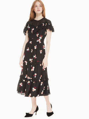 Kate Spade dusk buds midi dress