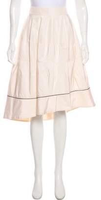 Saint Laurent Silk Knee-Length Skirt w/ Tags