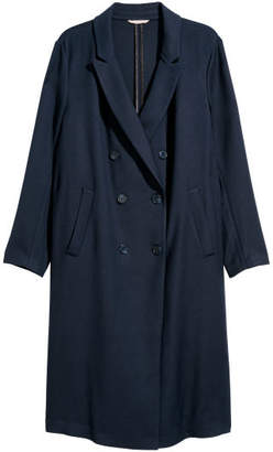 H&M H&M+ Double-breasted Coat - Blue