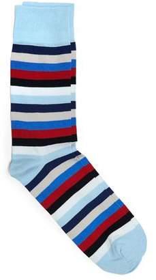 Corgi Cotton Blend Multi Color Striped Socks