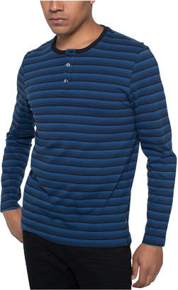 Kenneth Cole Men Striped Henley Shirt