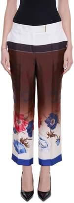 Salvatore Ferragamo Silk Twill Trousers
