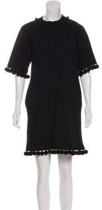 Marc Jacobs Pom Pom-Accented Mini Dress w/ Tags