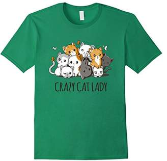 Crazy Cat Lady Cute Anime Kitty Cat T Shirt
