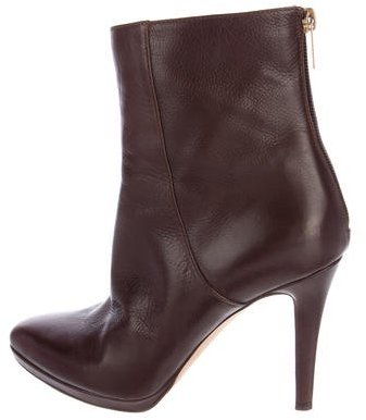 Jimmy Choo Jimmy Choo Leather Pointed-Toe Ankle Boots