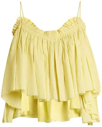APIECE APART Sanna cropped cotton top $171 thestylecure.com