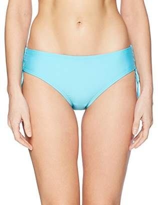 Calvin Klein Women's Solid Full Side Shirred Hipster Bikini Bottom