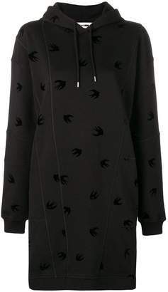 McQ Mini Swallow hooded dress
