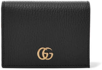 Gucci Marmont Petite Textured-leather Wallet - Black