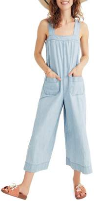 Madewell Chambray Wide Leg Jumpsuit