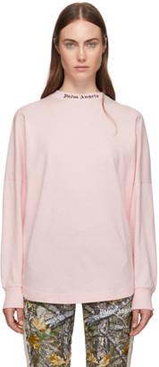Palm Angels Pink Logo Long Sleeve T-Shirt