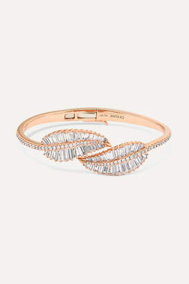 Anita Ko Palm Leaf 18-karat Rose Gold Diamond Bracelet - one size