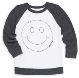 Lauren Moshi Little Boy's& Boy's Heckle Happy Face Colorblock Raglan Pullover