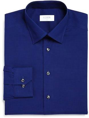 Eton Tonal Mini-Check Slim Fit Dress Shirt
