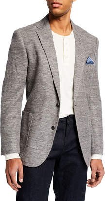 English Laundry Men's Knit Two-Button Blazer Gray