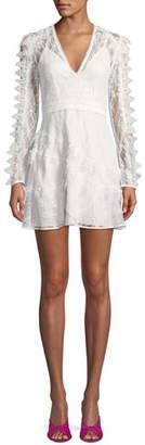 La Maison Talulah Pursue Long-Sleeve Lace Mini Dress